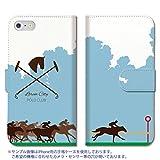 301-sanmaruichi- iPhone6s ケース iPhone6 ケース 手帳型 おしゃれ 競馬 乗馬 馬 手帳ケース