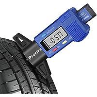 Preciva デジタル タイヤデプスゲージ 溝測定メーター 小型