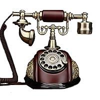 Mobeka ヴィンテージボタン電話ロータリーボタン昔ながらの中国の牧歌的な電話の電話中国の風固定電話のオフィス固定電話