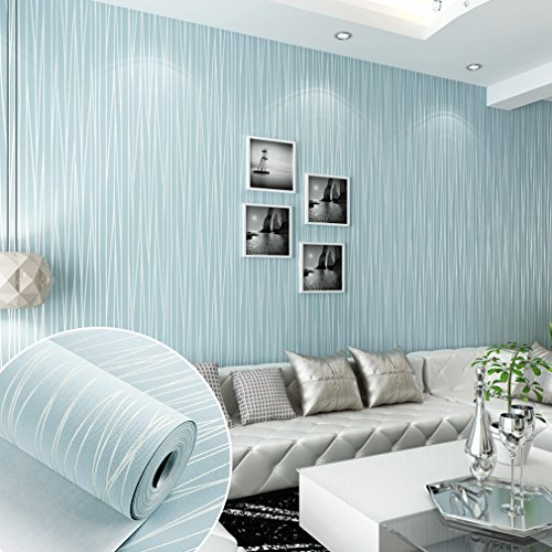 ARUHE DIY 3D立体 壁紙 不織布 のりなし 壁紙 シンプルなストライプ 壁紙シール 月光の森 おしゃれ ベッドルーム リビングルームの背景 55cmx10m