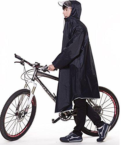 QIAN レインコート 自転車 バイク 通学兼用 レインウエア フリーサイズ...