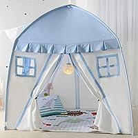 Lian子供再生テント赤ちゃんゲーム人形Houseインドアアウトドアキャンバス折り曲げレースのパックの家(ピンク、ブルー150150100 CM 1 ) ブルー 14701