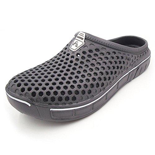 (アモジ)Amoji サンダル スリッパ ルームシューズ サボサンダル 室内履き メンズ レディース グレー 27.0cm