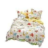 MXLTIANDAO 羽毛布団カバークイーン・花寝具は全コットンサテン花布団カバーセット4本入り布団カバーリバーシブルを設定します。 (Color : イエロー, Size : 1.5m)