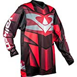 Valken Fate EXOペイントボールJersey – red-mediumレッド