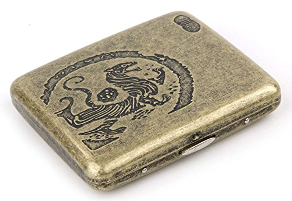 エクステント宙返り奇跡的な虎紋 タバコケース 20本収納 煙草 たばこ タバコ シガレット ケース 煙草入れ