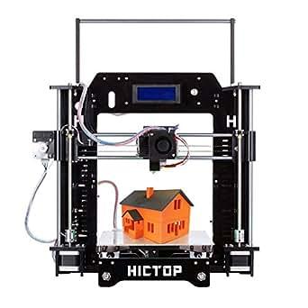 HICTO PReprap Prusa i3 3D プリンターキット DIY アクリル板 未組立 最大印刷サイズ210*270*190mm 黒3dp-08bk