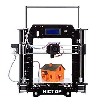 HICTOP 3Dプリンター Reprap Prusa i3 3D プリンターキット DIY 未組立 高精度印刷 SDカード、PLAフィラメント付き (3DP-08)