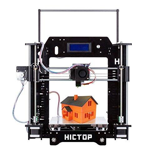 HICTO Reprap Prusa i3 3D プリンターキット DIY アクリル板 未組立 最大印刷サイズ210*270*190mm 黒3dp-08bk