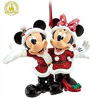 Disney ホリデーオーナメント サンタミッキーとミニーマウス ディズニー遊園地限定版
