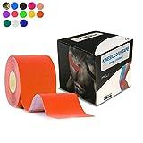 テーピングテープ キネシオ テープ 筋肉・関節をサポート 伸縮性強い 汗に強い パフォーマンスを高める 5cm×5m