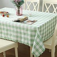 格子状のテーブルクロス布、ゴージャスの長方形のテーブルテーブルテーブルテーブル苹果绿色格子 160*160cm