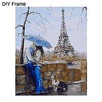 Dkhsy DIY油絵数字油絵キャンバス油絵ペイント番号キット大人女の子子供家の装飾バレンタインデーギフト