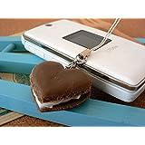 食品サンプル屋 食品サンプル 携帯ストラップマカロンハート チョコ 02P03Dec16