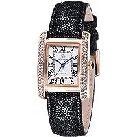 Carlien Fashion Women Leather Strap Watch Rhinestone Dress Ladies Casual Quartz Watches