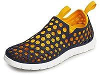 (ラプアカーマ) LAPUA KAMAA アウトドアサンダル スポーツサンダル サンダル アクアシューズ メンズ スニーカー メッシュ 2WAY 通気性 軽量 靴 L(25.5cm-26cm相当) ネイビー / イエロー 紺色 黄色