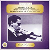 Sonata per violino e cembalo BWV 1017 n.4 in do Sonata per violino e cembalo BWV 1018 n.5 in fa Sonata per violino e cembalo BWV 1019 n.6 in SOL