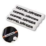 DOPPELGANGER シリコンフレームプロテクター フレーム保護チューブ 1セット4本入 45mm径 [シフター/ブレーキアウター対応]  DFP190-WH