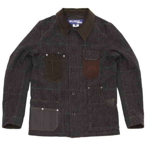 【2012】Hervier Glen Check Tweed Blazer ジュンヤワタナベ・コムデギャルソン・マン