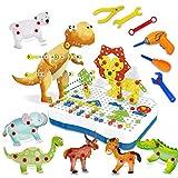 CHTOY 電動 ドリル ネジ 大工さん おもしろ 積み木 ツールボックス カラフル 組み立て セット 知育玩具 玩具収納 子供用 クリスマス 誕生日 プレゼント (335PCS)