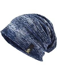 Ruphedy  メンズニット帽子 薄手 大きいサイズ サマーニット帽  洗える オールシーズン 医療用帽子 伸縮性に優れたニットキャップ 柔らかい B081