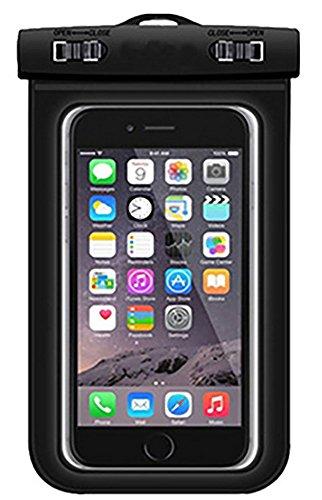 hortensia 防水ケース 黒 (ブラック) 携帯ケース...