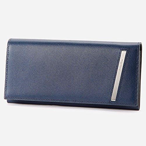 カルバン・クライン プラティナム・レーベル(CalvinKlein platinumlabel) 財布(かぶせ長財布)【ネイビー/**】