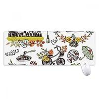 秋のコロッセオローマイタリアグラフィティ ノンスリップゴムパッドのゲームマウスパッドプレゼント