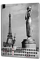 カレンダー Perpetual Calendar Travel Kitchen Butcher Paris France Tin Metal Magnetic