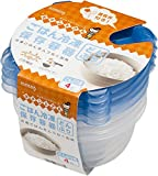 ごはん冷凍保存容器どんぶり用4個375ml