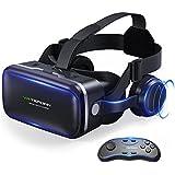 Tepoinn VRゴーグル 3D VR ヘッドセット一体型 超3D映像効果 仮想現実 コントローラ付属 4-6インチ携帯対応