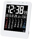 アデッソ カラーカレンダー電波時計 KW9292