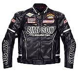 シンプソン(SIMPSON) バイクジャケット プレミアムPUレザー(Premium PU Leather)ジャケット シルバー M SJ-7119PRM