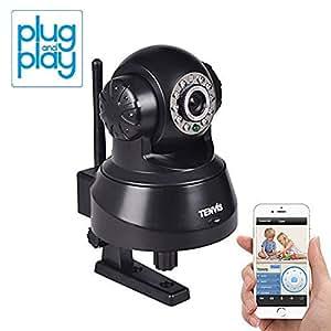暗視対応・遠隔操作可能! ネットワークカメラ IPカメラ【ブラック】◇JPT3815W