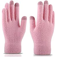 WUXiaodanDan Women's coral velvet knit touch screen gloves to keep warm and cold gloves