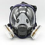 7ピーススーツ 球形で大視野のシリカゲル防毒全マスク 塗装化学や防ホルムアルデヒドや消防用ほこりアーク呼吸ウイルスろ過