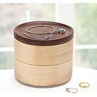 WTL かご?バスケット 木製ジュエリーボックスヨーロッパのジュエリージュエリー収納ボックスダブルハンドルネックレスボックス