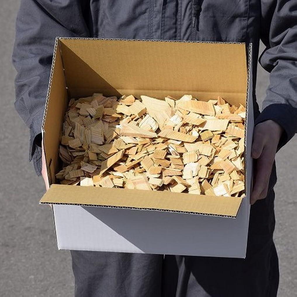 文字通りローストドレイン青森ひば ヒバチップ 2倍箱入り 横32.5×縦24×高さ15.5(cm) 約1.8kg 約12L 大小無選別