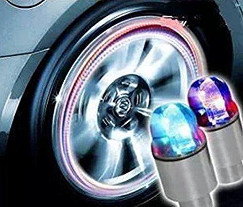 クルマ バイク タイヤ バルブキャップ LED ライト セン...