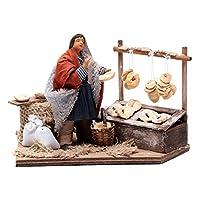 Man making Taralli、Animated Neapolitan Nativity Figurine 12cm