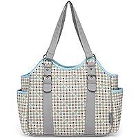 Javababy マザーズバッグ トートバッグ 大容量 ママバッグ 軽量 おむつ替えシート付 ベビー用品収納 流れ星(ブルー)