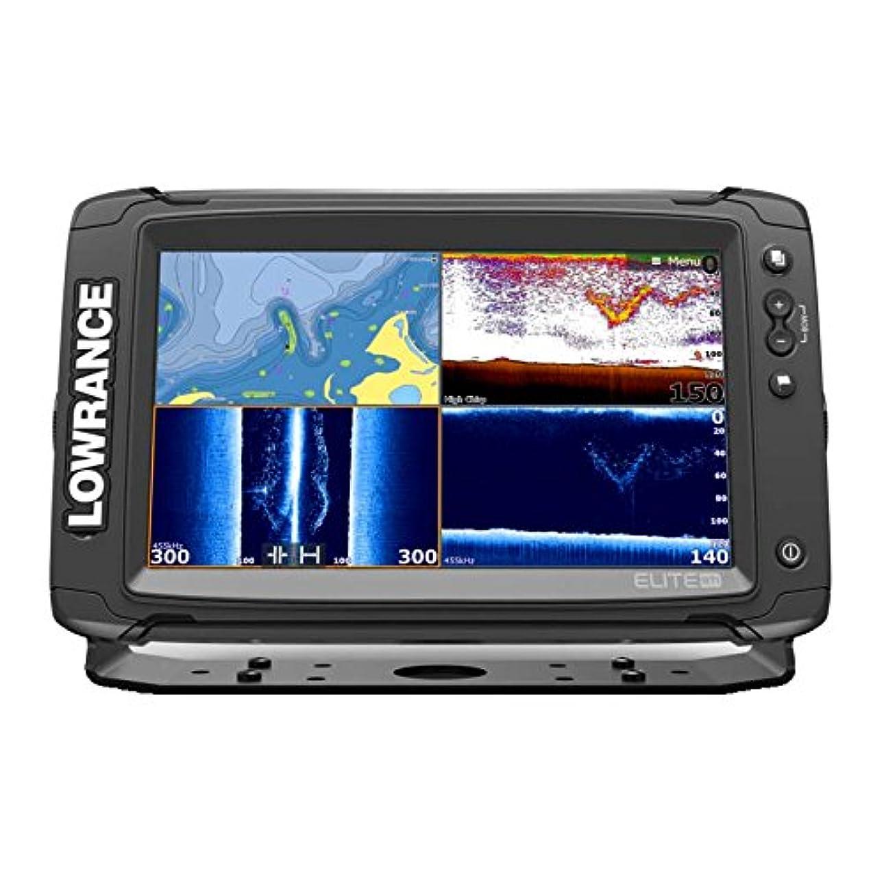医療のミットメンダシティ【LOWRANCE/ロランス】Elite-9Ti トータルスキャン振動子付 簡易海図AT5マップ付き GPS魚探