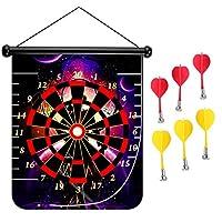 15インチMagnetic Dart Board Double Sided Hanging Dart Board Set and Bullseyeゲーム。Gentleman