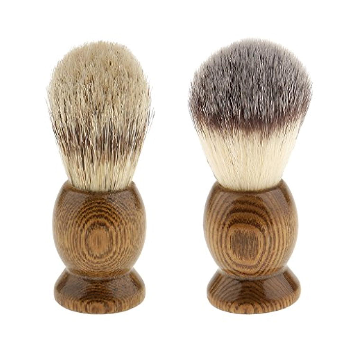 集団暗黙サーフィン2個 シェイビングブラシ ひげ剃りブラシ ロングハンドル サロン 家庭用 メンズ