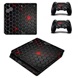 Linyuan 安定した品質 0049* Skin Sticker Vinyl Decal Cover for PlayStation PS4slim Console+Controllers