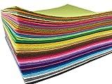 48枚 サイズが選べる カット フェルト 生地 48色 セット 厚さ 1mm (15cm*15cm) 不織布 アクリル系繊維 クラフトフェルトマットⅮIY用