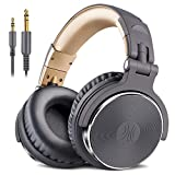 OneOdio DJヘッドホン 密閉型モニターヘッドホン オーバーイヤーヘッドフォン スタジオレコーディング/楽器練習/ミキシング/TV視聴/映画鑑賞/ゲームなどに対応 (グレー)