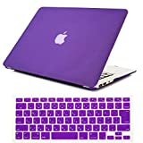Se7enline MacBook Pro Retina 13 ディスプレイ ハードケース2012-2017年+日本語キーボードカバー(JIS配列) 対応モデル:[MacBook Pro Retina 13 インチA1502/A1426] 極光紫