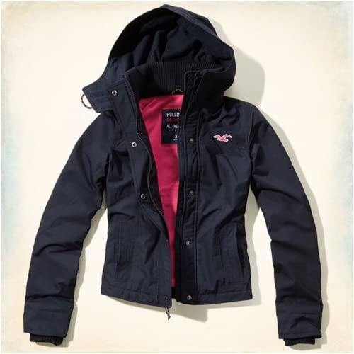 Hollister Co. ホリスター The Hollister All-Weather Jacket [COLOR: ネイビー ][SIZE: S ] [並行輸入品]