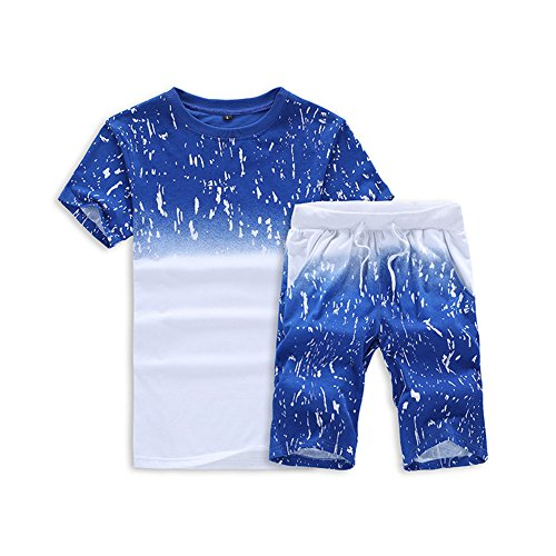 スウェット ジャージ メンズ 上下セット ルームウェア 半袖 薄手 Tシャツ パンツ カジュアル パーカー ショートパンツ 5分丈 アウトドア トレーニング 部屋着 運動着 トップス ボトムス 2点セット 大きいサイズ 配色 切替